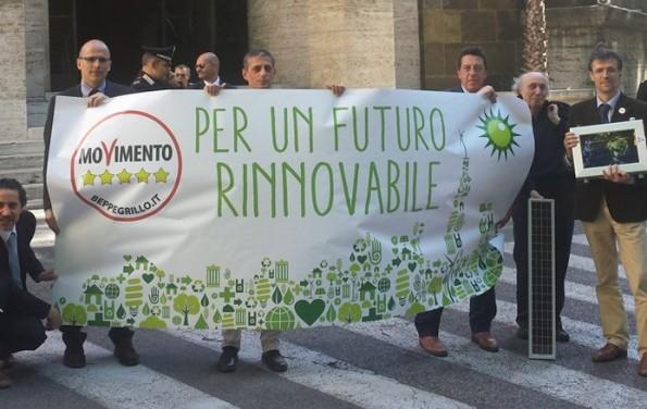 """Slogan """"Per un futuro rinnovabile"""""""